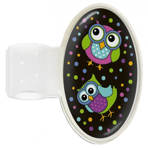 Stethoscope ID Tag Owl Black Party