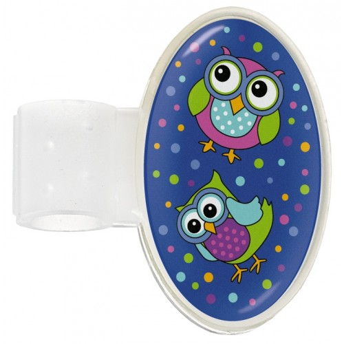 Stethoscope ID Tag Owl Blue Party