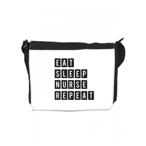 Shoulder Bag Large Eat Sleep Nurse Repeat