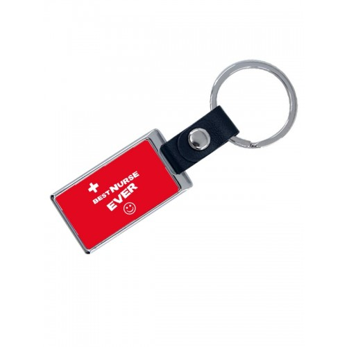 Luxe Key Chain Best Nurse Ever with Name Print