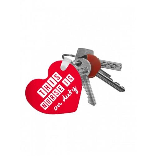 Key Chain Heart Nurse Duty