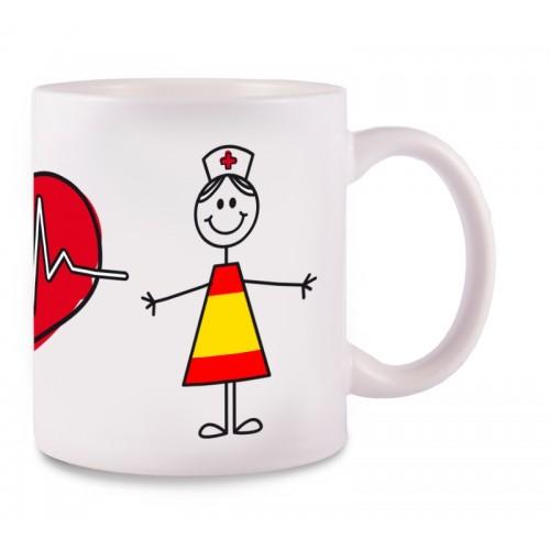 Mug Stick Nurse Spain
