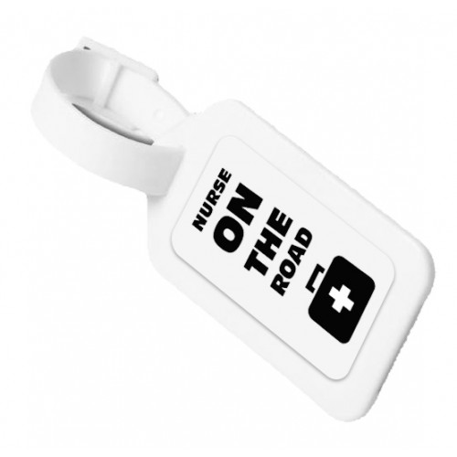Luggage ID Tag On The Road