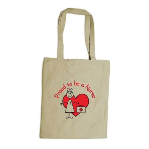 Reusable Tote Bag Stick Nurse