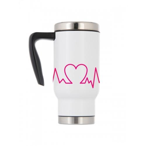 Thermo Travel Mug Heartbeat